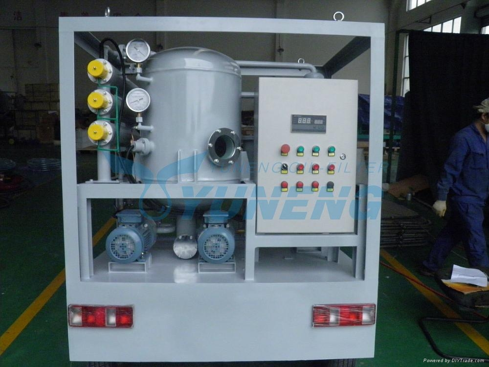 CE ISO Certified Portable Transformer Oil Filtration Machine with Trolley 1