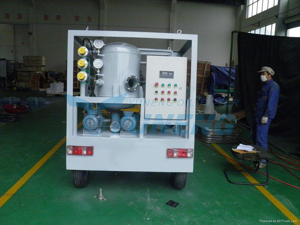 CE ISO Certified Portable Transformer Oil Filtration Machine with Trolley 3