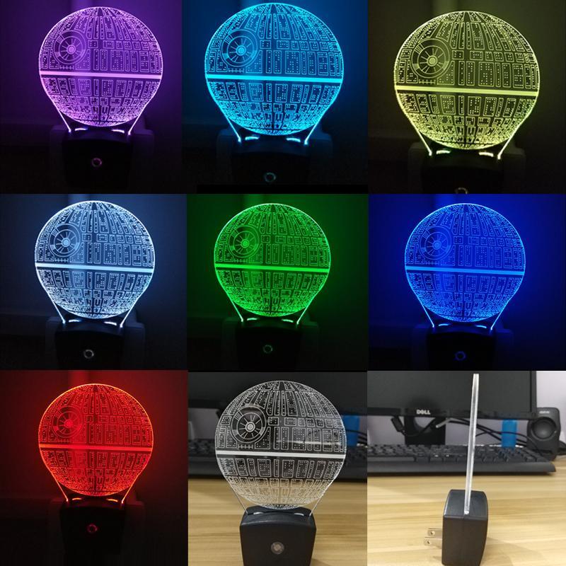 Mini RGB LED Lamp Base Light Sensor Wall Plug TDL-X 1