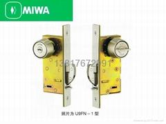 原装进口日本MIWA FN型推拉移门14FN钩形舌头门锁