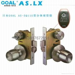 原装进口GOAL AS-5Q11S型分体不锈钢球型锁