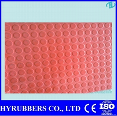 Round button rubber mat for parking