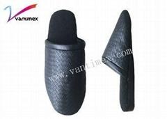 PU Leather Waterproof Cotton Slippers /