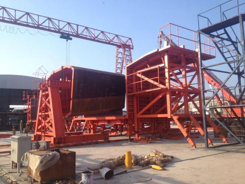Shuttering For Bridges : Precast segmental assembly box girder formwork by