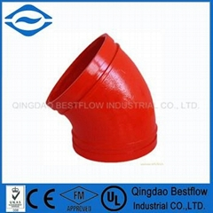 ductile iron grooved pipe fitting