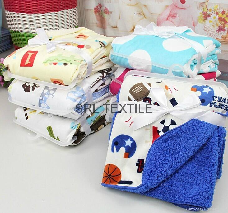 Coral Fleece Baby Blanket 1
