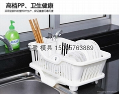 供應多功能塑料碗架模具