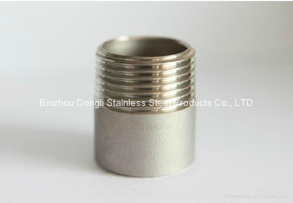 China supplier stainless steel pipe fitting close nipple