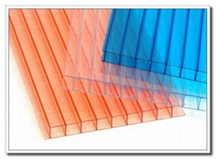 4mm-12mm Unbreakable triplewall Polycarbonate Hollow Sheet With UV Coated