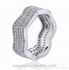 Fashion Silver Jewelry Silver Ring with Cheap Price