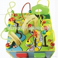 wooden educational toy 5 in 1 intelligent playing cube 2