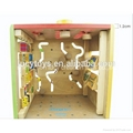 wooden educational toy 5 in 1 intelligent playing cube 3