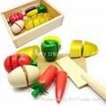 Child Kitchen Wood Vegetables Toy