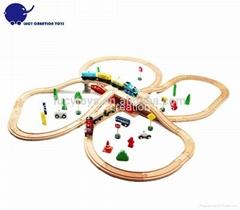 DIY Type Wooden Classic Railway Train Toy Kit