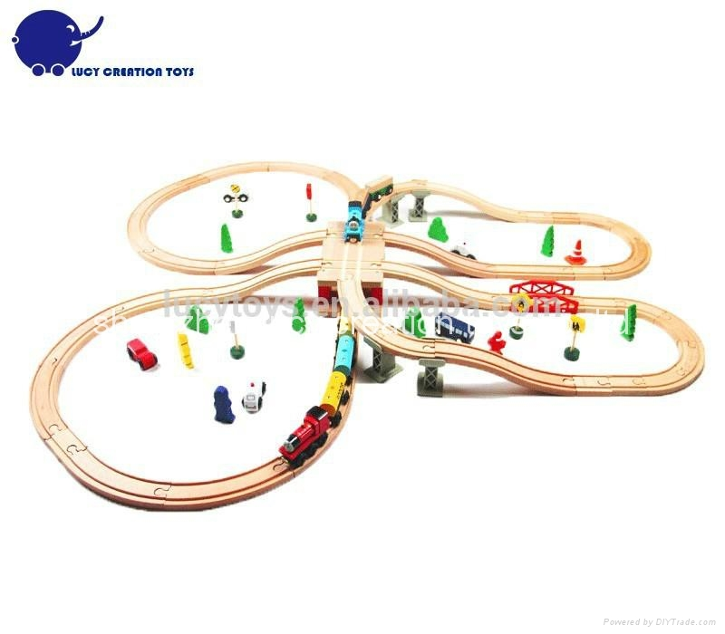 DIY Type Wooden Classic Railway Train Toy Kit 2