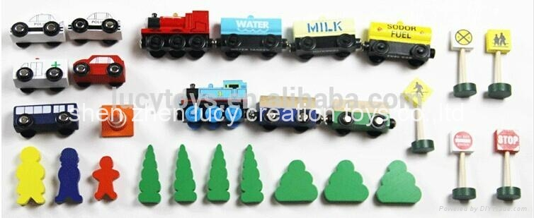 DIY Type Wooden Classic Railway Train Toy Kit 4