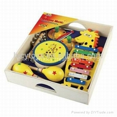 Child Wooden 6 in 1 Xylophone Music Toy Set
