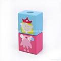 Fairytale Princess Castle Series Pink Wooden Shape Sorter Toy Blocks for Girls 5