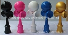 Full PU Paint Bilboquet with Handle Stained
