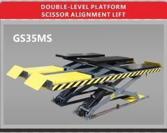 Double-level platform scissor alignment lift