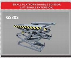 Small platform double scissor lift(single extension)