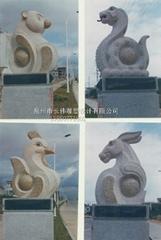 景觀動物雕刻十二生肖雕刻