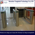 Access Control Turnstile Pedestrian Swing Barrier Gate with Fingerprint Reader