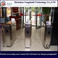 Counter retractable bi-directional fast lane speed flap barrier turnstile gate