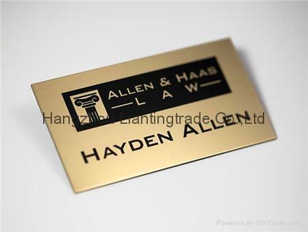 Metal badges Pin badges Customized metal bookmarks Number plate 1