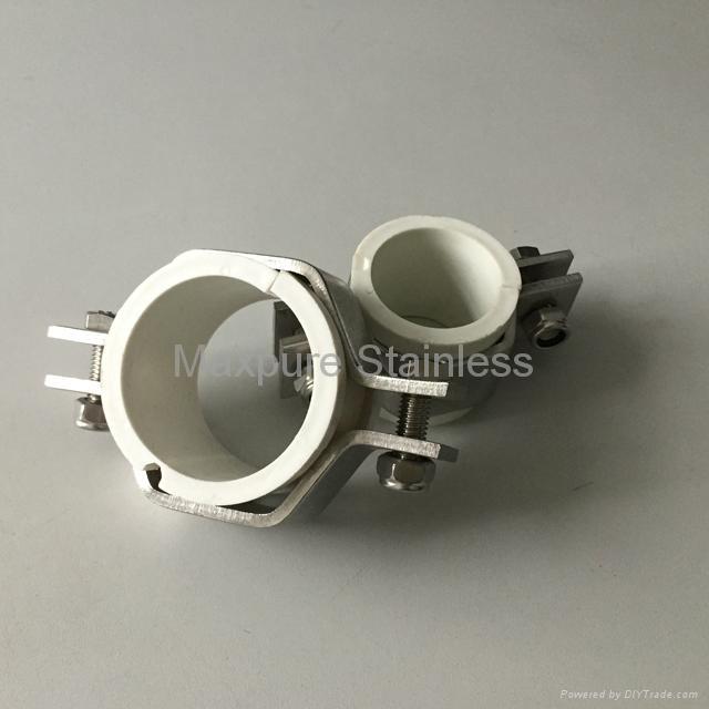 Stainless steel sanitary pipe holders hangers phph