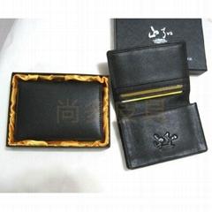 尚多皮具PIXIU定製供應真皮名片夾名片包卡包