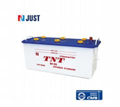 12V 120AH N120 japan standard white case car battery