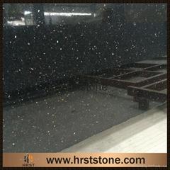 black galaxy granite slab and countertop
