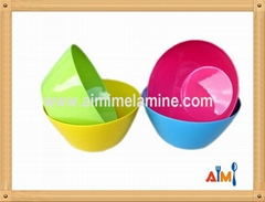 Various colorful melamine plastic bowl