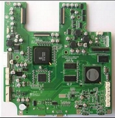 Multilayer PCB assembly production with resistors, capacitors and IC