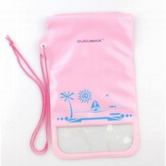 PVC dry waterproof mobile phone pouch