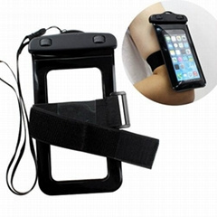 PVC waterproof cell phone pouch