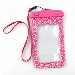 Trendy plastic mobile phone waterproof pouch
