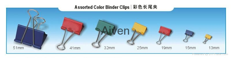 Aiven High Quality Non-Toxic Assorted Color Binder Clips 2