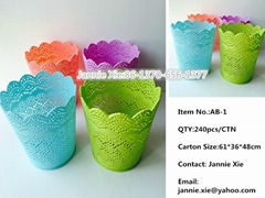 Plastic Storage Basket Table Dustbin Car Dustbin Flower Pot