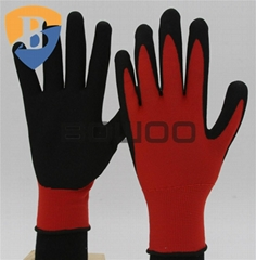 Nitrile coated safety working glove
