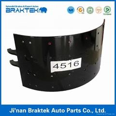 high quality brake shoe for semi truck 4516