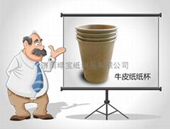 厂家直供9盎司一次性食品级牛皮纸纸杯定做 卫生环保 品质高档