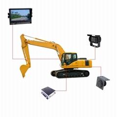 挖掘机专用可视倒车雷达