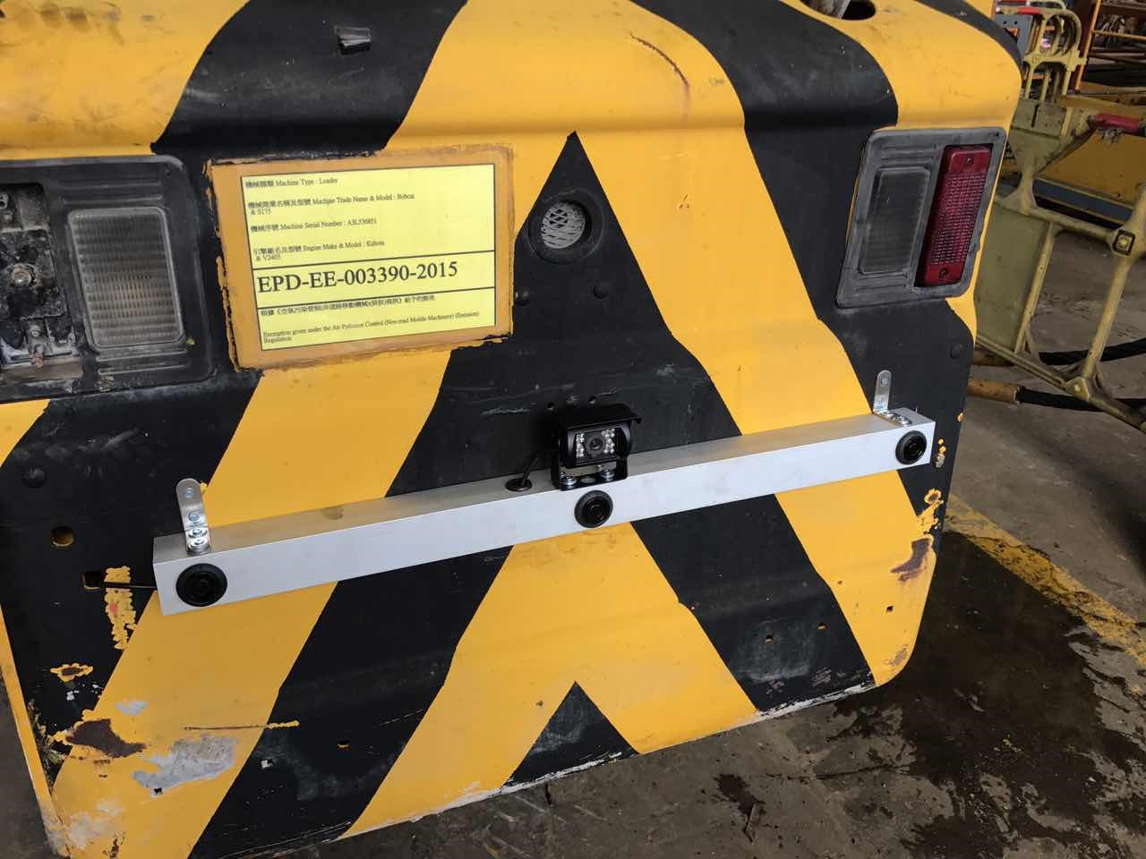 2017NEW Design Forklift reverse parking sensor system with Rear view camera 4
