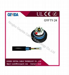 Outdoor  fiber optic cable with duct