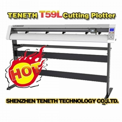 "Teneth 59"" Best Step Motor Cutting Plotter T59XL for PU PVC Vinyl Sticker/Vinyl"