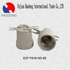 ceramic porcelain glazed lamp holder E27 E26 E40 E39 E17 E14