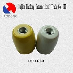 E27 E40 ceramic porcelain lamp holder base socket