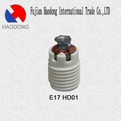 E40 E26 E17 G10 ceramic porcelain lamp holder base socket